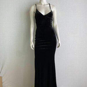 WINSOR Black Velvet Maxi Dress NWT